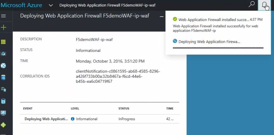 Deploying F5's Web Application Firewall in Microsoft Azure